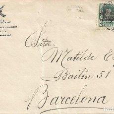 Sellos: MARRUECOS ESPAÑOL CARTA (EDIFIL 83 DOS SELLOS) DOMINGO RIERA CIRCULADA 1923 TETUAN-BARCELONA LLEGADA. Lote 58087091