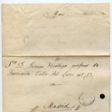 Sellos: CARTA ENVUELTA CIRCULADA DE PAMPLIEGA BURGOS A MADRID, FECHADA EN MAZUELA 30/06/1868. Lote 221994123
