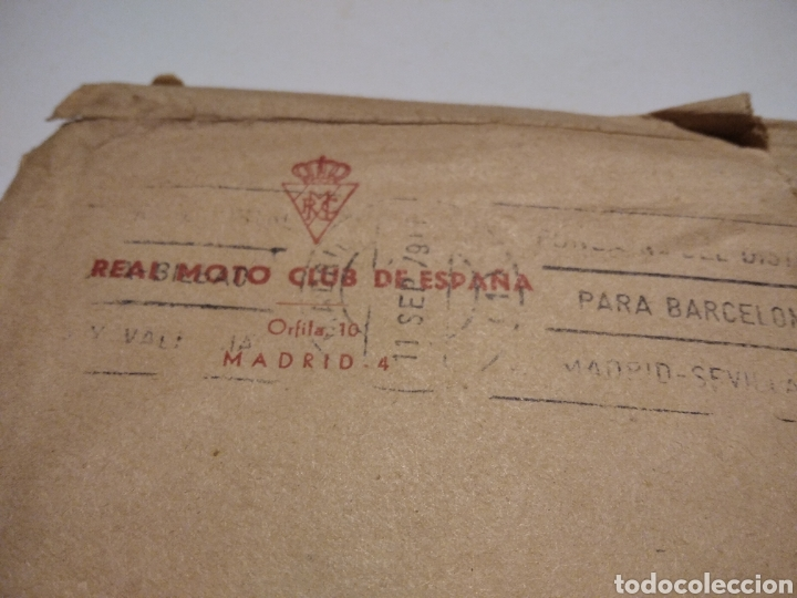 Sellos: Sobre Real MOTO-CLUB ESPAÑA - Foto 2 - 222083378