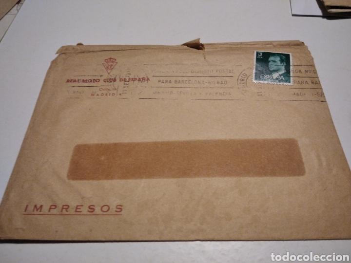 SOBRE REAL MOTO-CLUB ESPAÑA (Sellos - Historia Postal - Sello Español - Sobres Circulados)
