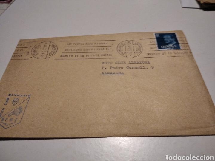 SOBRE MOTO-CLUB BENICARLÓ (Sellos - Historia Postal - Sello Español - Sobres Circulados)
