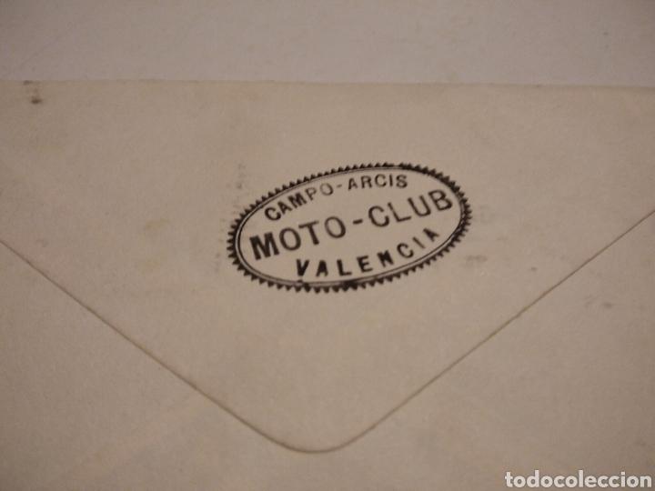 Sellos: Sobre MOTO-CLUB Campo ARCIS Valencia - Foto 2 - 222083697
