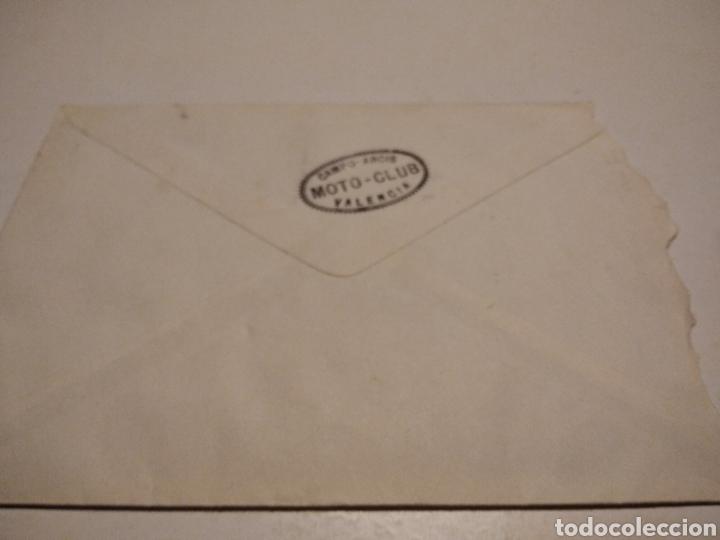 SOBRE MOTO-CLUB CAMPO ARCIS VALENCIA (Sellos - Historia Postal - Sello Español - Sobres Circulados)