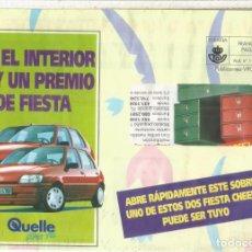 Sellos: ESPAÑA SPAIN FRANQUEO PAGADO QUELLE AUTOMOVIL CAR FORD FIESTA. Lote 222150358