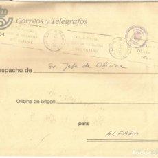 Sellos: LA RIOJA LOGROÑO A ALFARO CORREO INTERNO CORREOS MAT PABELLON POSTAL 1994. Lote 222151556