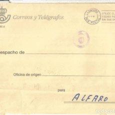 Sellos: LA RIOJA LOGROÑO A ALFARO CORREO INTERNO CORREOS MAT PABELLON POSTAL 1994. Lote 222151741