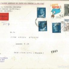 Sellos: GRANADA CC REEMBOLSO VALORES DECLARADOS 1987. Lote 222153156