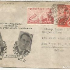 Sellos: MADRID CC A USA 1946 CORREO AEREO. Lote 222472221