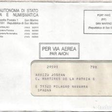 Sellos: SAN MARINO CC PORT PAYE. Lote 222474135