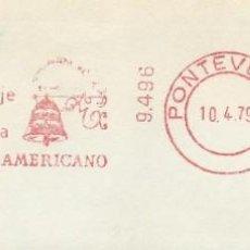 Sellos: 1979. PONTEVEDRA. FRANQUEO MECÁNICO. FRAGMENTO. METER CUT. BANCO HISPANO AMERICANO. MÁQUINA 9496.. Lote 222672172