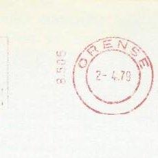 Sellos: 1979. ORENSE. FRANQUEO MECÁNICO. FRAGMENTO. METER CUT. BANCO DE BILBAO. MÁQUINA 8505.. Lote 222673040