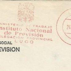 Sellos: 1978. LUGO. FRANQUEO MECÁNICO. FRAGMENTO. METER CUT. INSTITUTO NACIONAL DE PREVISIÓN. MÁQUINA 8690.. Lote 222673170