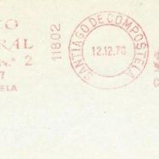 Sellos: 1978. SANTIAGO DE COMPOSTELA. FRANQUEO MECÁNICO. FRAGMENTO. METER CUT. BANCO CENTRAL. MÁQUINA 11802.. Lote 222674607