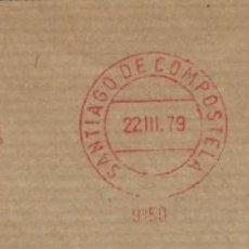 Sellos: 1979. SANTIAGO DE COMPOSTELA. FRANQUEO MECÁNICO. FRAGMENTO. METER CUT. COLEGIO OFICIAL ARQUITECTOS.. Lote 222675175