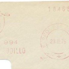 Sellos: 1976. EL FERROL. FRANQUEO MECÁNICO. FRAGMENTO. METER CUT. ASTANO. MÁQUINA 2225.. Lote 222675471