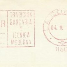 Sellos: 1978. CORUÑA. FRANQUEO MECÁNICO. FRAGMENTO. METER CUT. BANCO PASTOR. MÁQUINA 11801.. Lote 222675862