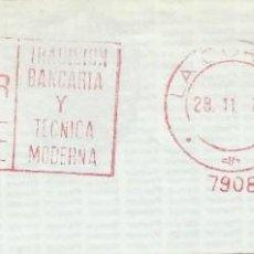 Sellos: 1978. CORUÑA. FRANQUEO MECÁNICO. FRAGMENTO. METER CUT. BANCO PASTOR. MÁQUINA 7908.. Lote 222676006