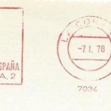 Sellos: 1978. CORUÑA. FRANQUEO MECÁNICO. FRAGMENTO. METER CUT. BANCO EXTERIOR DE ESPAÑA. MÁQUINA 7034.. Lote 222676538