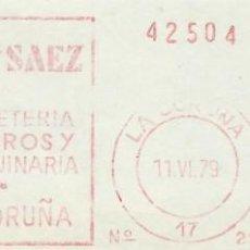 Sellos: 1979. CORUÑA. FRANQUEO MECÁNICO. FRAGMENTO. TORRES Y SAEZ. MÁQUINA 212.. Lote 222677676
