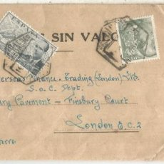 Sellos: MADRID CORREO AEREO MUESTRAS SIN VALOR SELLOS FRANCO PERFIL Y LACIERVA 1955. Lote 222678586