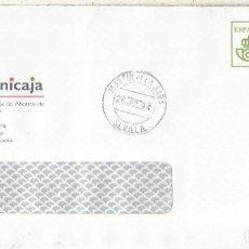 Sellos: MARTIN DE LA JARA SEVILLA CC CON FRANQUEO PAGADO UNICAJA AL DORSO LLEGADA. Lote 222679626