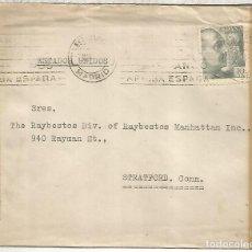 Sellos: MADRID A USA SELLOS FRANCO PERFIL DOBLE CENSURA MADRID Y USA 1944 MAT ESTAFETA DE CAMBIO. Lote 222684633