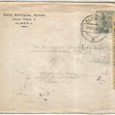 Sellos: ALMERIA A USA SELLOS FRANCO PERFIL 1954 CON CENSURA. Lote 222685488