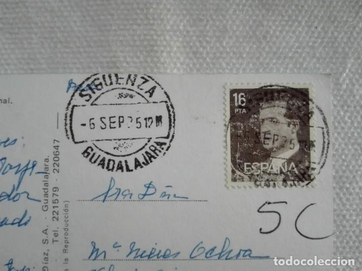 POSTAL2512 VACAS DIAZ 22 SIGÜENZA GUADALAJARA CASTILLO PARADOR -FILATELIA 1985 (Sellos - Historia Postal - Sello Español - Sobres Circulados)