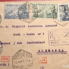Sellos: CORREO AÉREO. CENSURA. CERTIFICADO. BARCELONA 1942. Lote 231741095