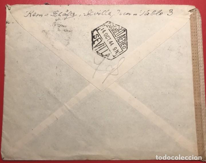 Sellos: CORREO AEREO. CENSURA. SEVILLA 1944 - Foto 2 - 231741345