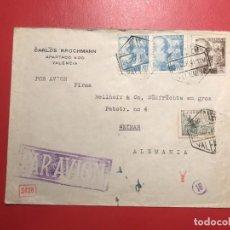 Sellos: CORREO AÉREO, CENSURA. VALENCIA 1941. Lote 231741645