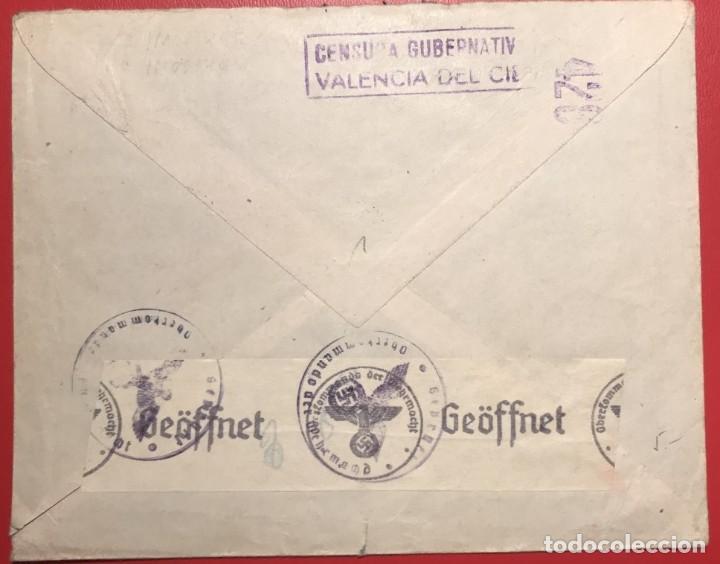 Sellos: CORREO AÉREO, CENSURA. VALENCIA 1941 - Foto 2 - 231741645