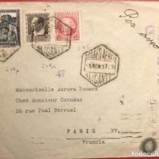 Sellos: CORREO AÉREO. CENSURA RÉPUBLICA. ALICANTE. 1937. GUERRA CIVIL. Lote 231741935