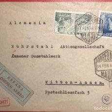 Sellos: CORREO AÉREO. CENSURA. MADRID 1944. Lote 231742155