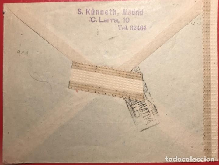 Sellos: CORREO AÉREO. CENSURA. MADRID 1944 - Foto 2 - 231742155