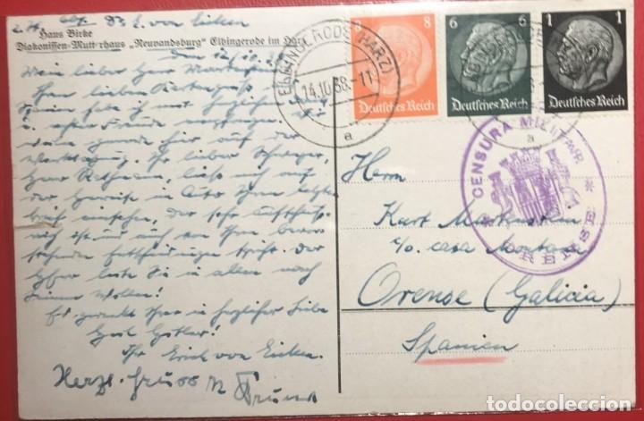 CENSURA MILITAR ORENSE. 1938. GUERRA CIVIL. GALICIA (Sellos - Historia Postal - Sello Español - Sobres Circulados)