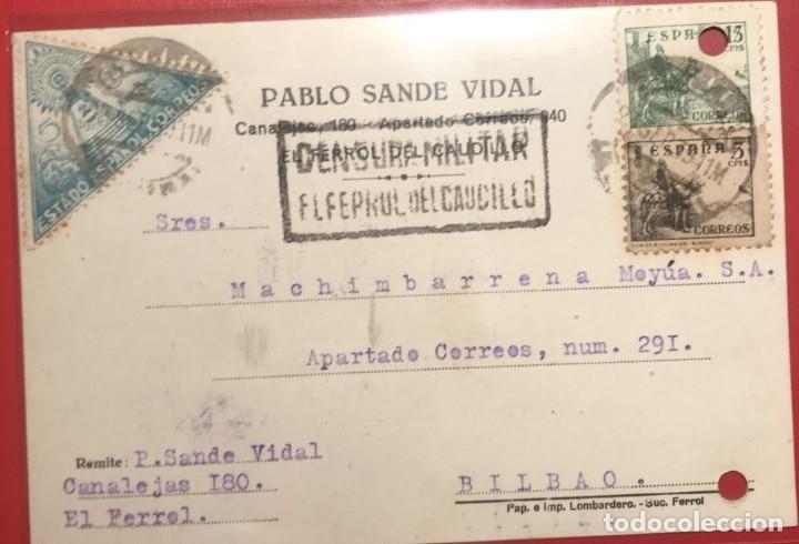CENSURA MILITAR FERROL. 1939. GUERRA CIVIL. GALICIA (Sellos - Historia Postal - Sello Español - Sobres Circulados)