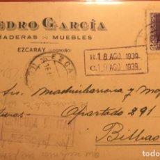 Sellos: CENSURA MILITAR. EZCARAY, LOGROÑO 1939. GUERRA CIVIL. Lote 231743085