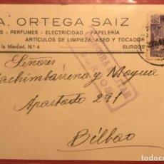 Sellos: CENSURA MILITAR BURGOS. 1939. GUERRA CIVIL. Lote 231743310