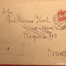 Sellos: CENSURA MILITAR. PONTEVEDRA. 1938. GUERRA CIVIL. GALICIA. Lote 231743765