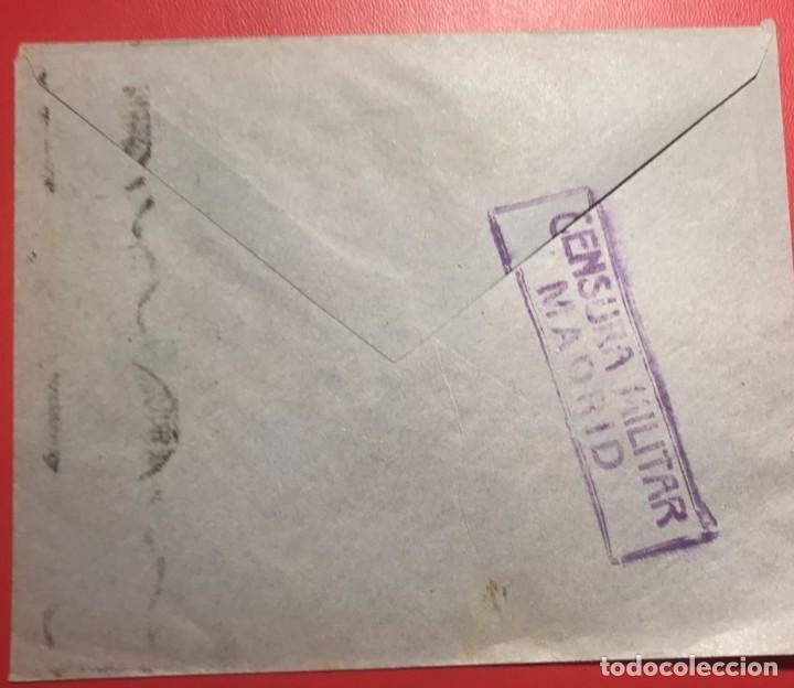 CENSURA MILITAR. MADRID. ESTAFETA DE CAMBIO (Sellos - Historia Postal - Sello Español - Sobres Circulados)