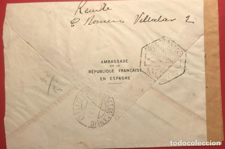 Sellos: CORREO AÉREO. CENSURA REPÚBLICA. MADRID. 1938. GUERRA CIVIL - Foto 2 - 231745680
