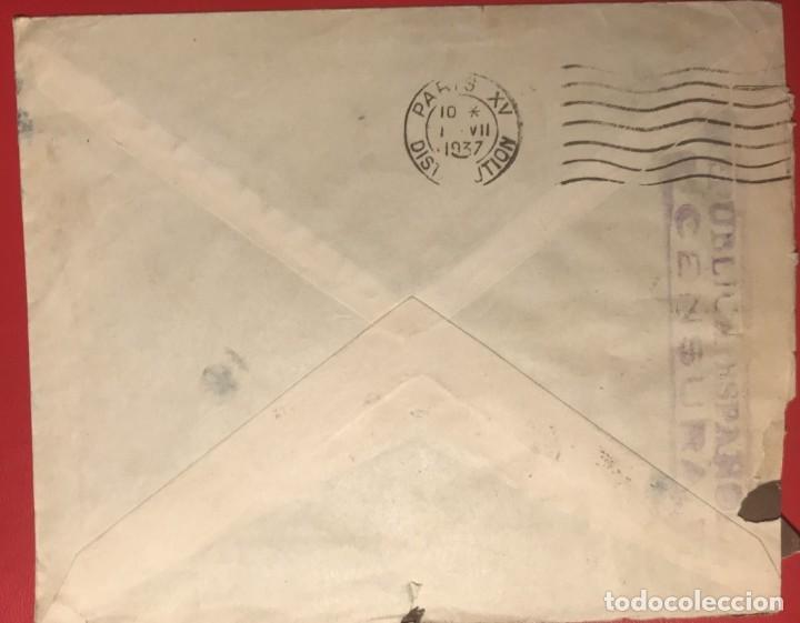 Sellos: CORREO AÉREO. CENSURA REPÚBLICA. ALICANTE. 1937. GUERRA CIVIL - Foto 2 - 231745980