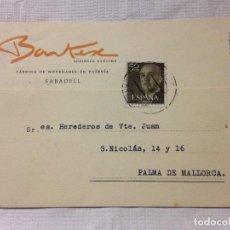 Sellos: CARTA CIRCULADA PALMA DE MALLORCA A SABADELL. Lote 232246160