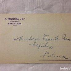 Sellos: CARTA CIRCULADA PALMA DE MALLORCA A BARCELONA. Lote 232246195