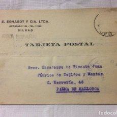 Sellos: CARTA CIRCULADA PALMA DE MALLORCA A BILBAO. Lote 232246235