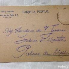 Sellos: CARTA CIRCULADA PALMA DE MALLORCA A HUESCA. Lote 232246265