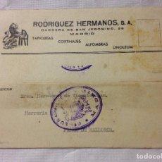 Sellos: CARTA CIRCULADA PALMA DE MALLORCA A MADRID. Lote 232246405