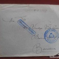 Selos: CENSURA MILITAR. FRANQUICIA AGRUPACIÓN DE SANIDAD 56 DIVISIÓN 1939. Lote 236611480