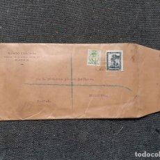 Sellos: SOBRE CIRCULADO CON TALONARIO DE MADRID A PIEDRAHÍTA (ÁVILA). 1933. BANCO CENTRAL. COSTA Y CUENCA.. Lote 237358815